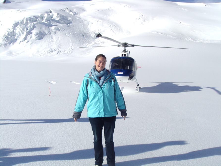 Jenny Wotton helicopter ride in new zealand