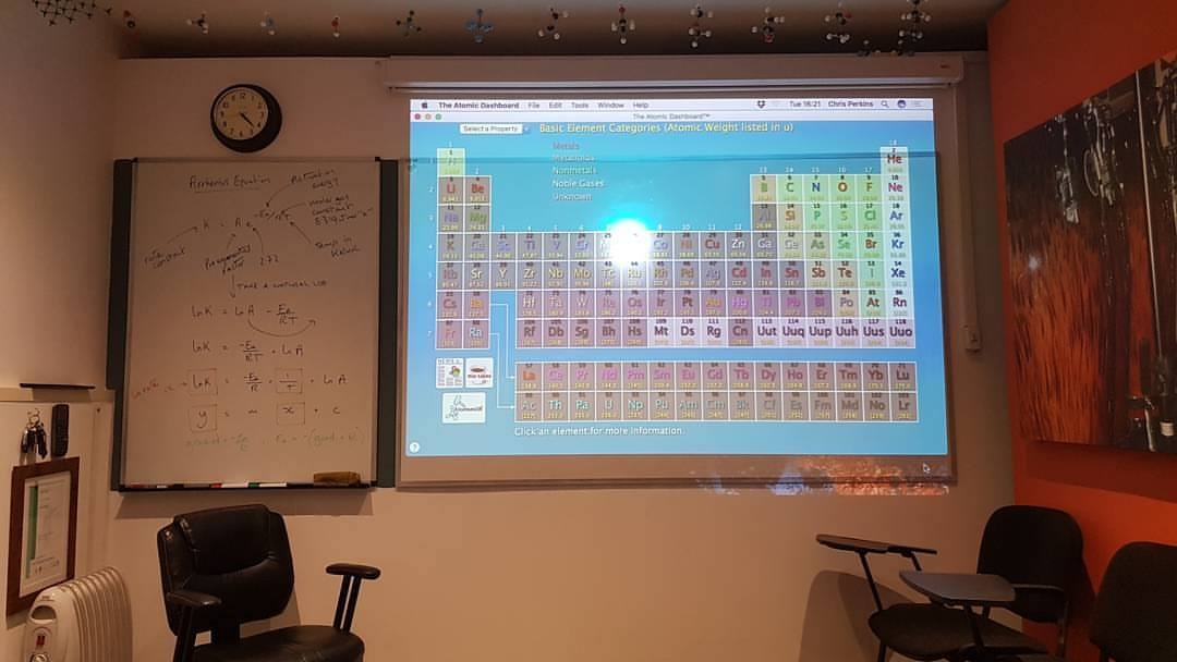 chemistry classroom for private tuition