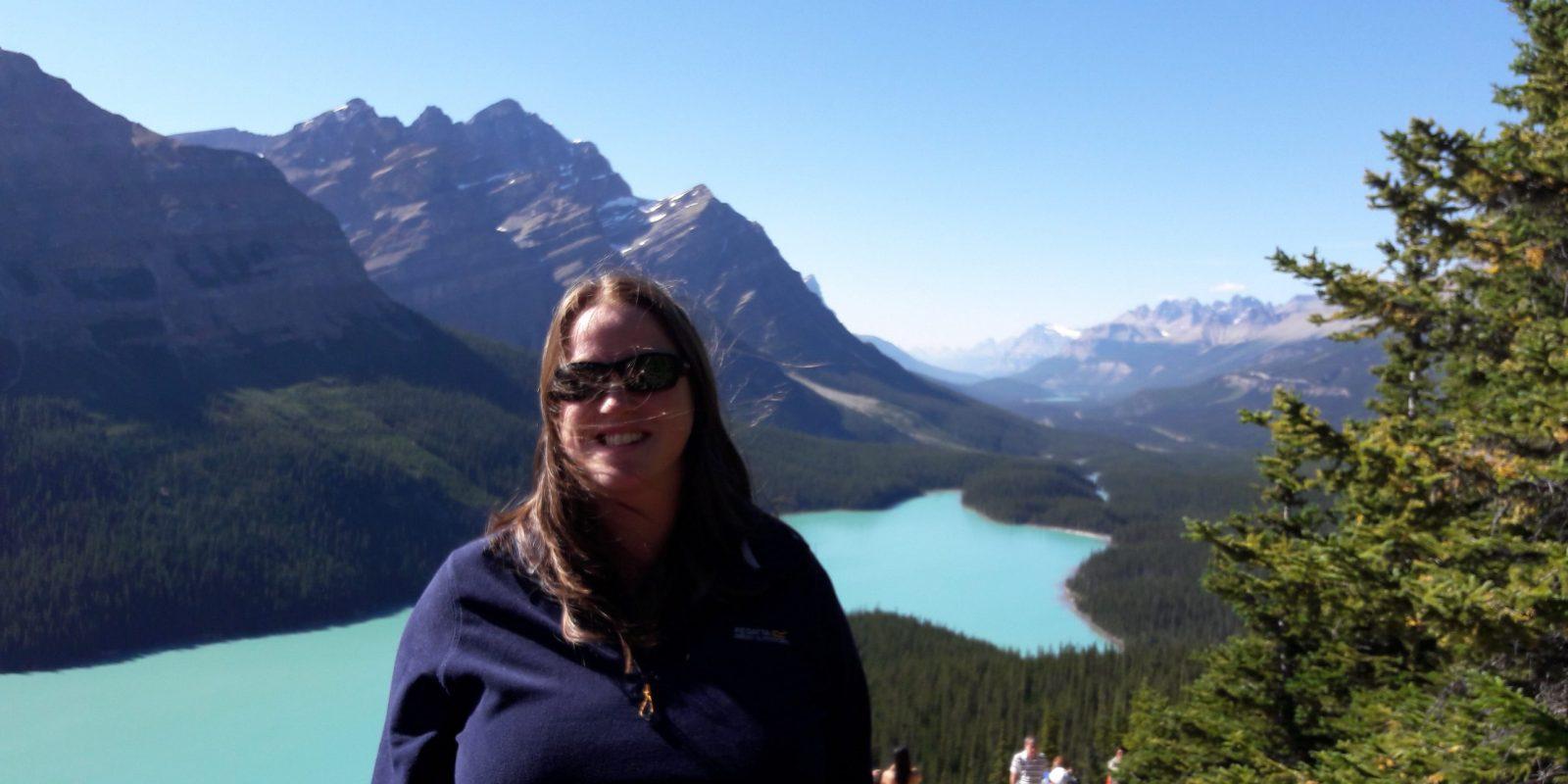 Jenny Wotton by a lake
