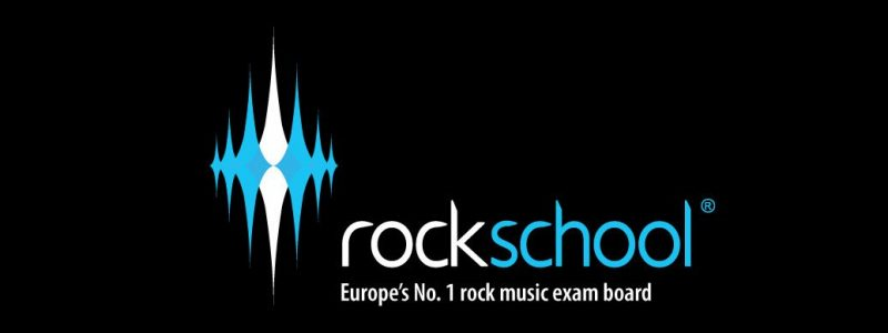 rockschool logo and strap line on drums page