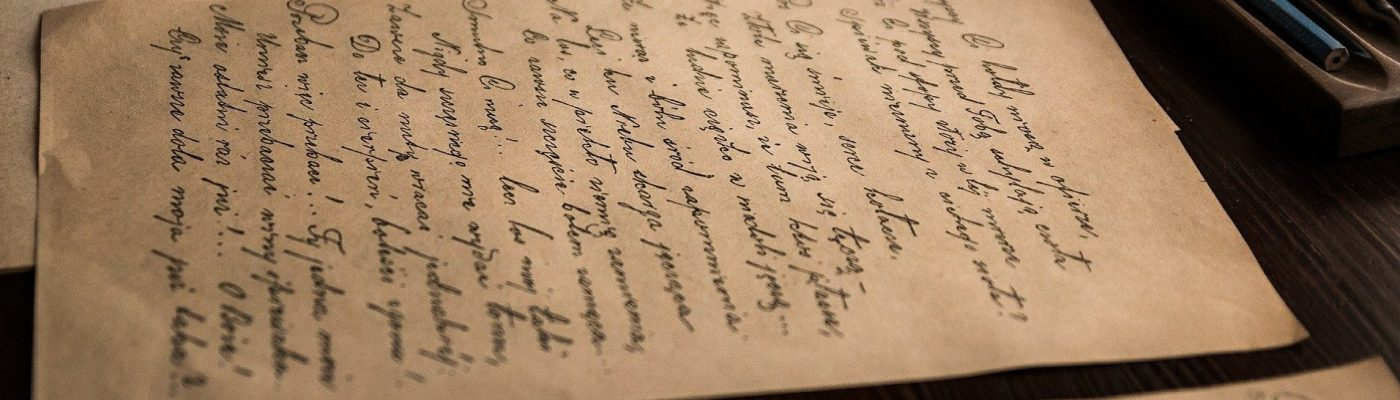 beautiful handwriting on old letters