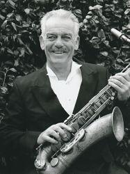 martin dale holding a sax