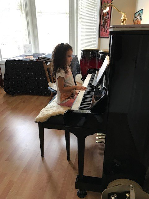 piano student from plymouth called amythst